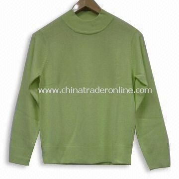 Knitted Sweater for Ladies, Made of 100% Soft Acrylic/Cashmere Like, Soft Feeling
