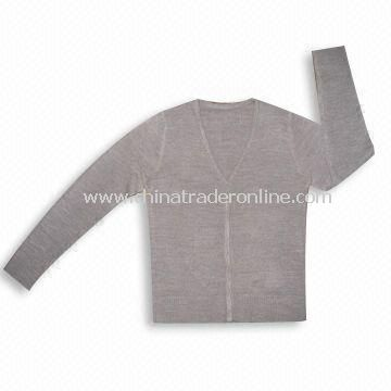 Ladies Knitted Sweater, Made of 100% Soft Acrylic/Cashmere Like with Soft Feeling