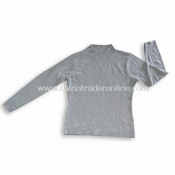 Soft Feeling Ladies Knitted Sweater, Made of 100% Soft Acrylic/Cashmere Like