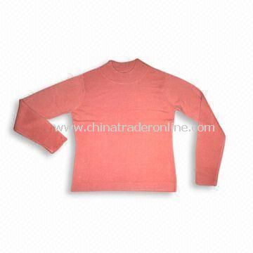 Sweater with Full Sleeves, Made of 100% Cashmere, Suitable for Women