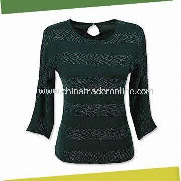 Womens Cashmere Sweater, Available in Deep Green