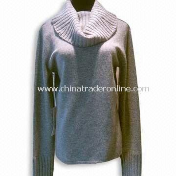 Womens Cashmere Sweater, Long-sleeve, with 12GG Material