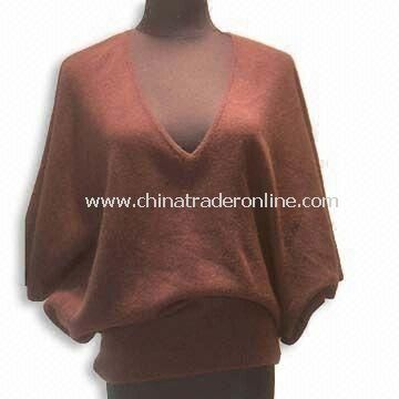Womens Cashmere Sweater with Fat Sleeve
