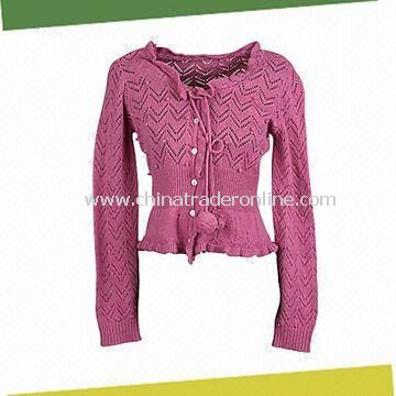 Womens Sweater, Made of 33% Cotton, 30% Cashmere, 15% Viscose and 22% Nylon