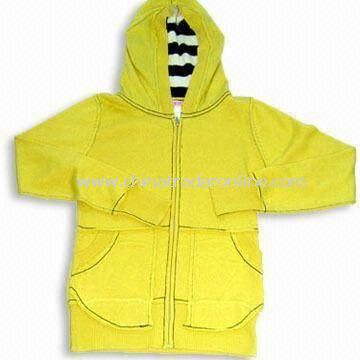 Yellow Hoody Silk/Cashmere Sweater, Customized Specifications are Accepted