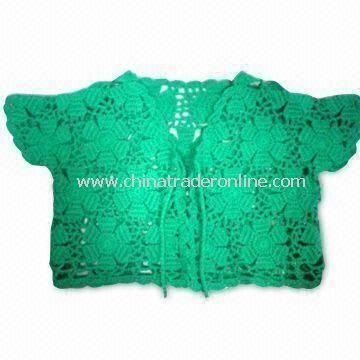 Crochet Sweater for Kids, Machine Made, with Tolerance Ranging from 0.3 to 0.5cm