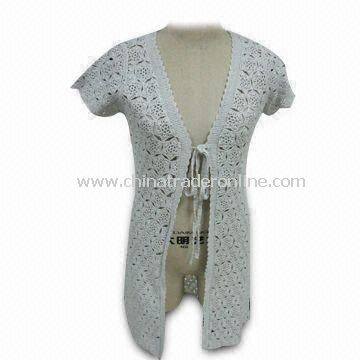 Crochet Sweater for Women, with 0.3 to 0.5cm Tolerance Range