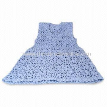 Girls AC/WO Hand Crochet Dress with Flower