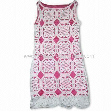 Machinemade Crochet Womens Sleeveless Sweater, Different Colors and Sizes are Available
