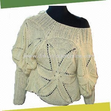 wholesale Womens Crochet Sweater, Made of 100%Cotton-buy discount ...