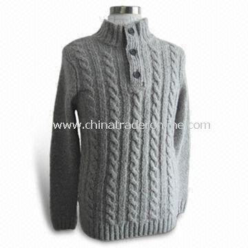 Sweater, Made of 85% Acrylic and 15% Wool, Suitable for Women