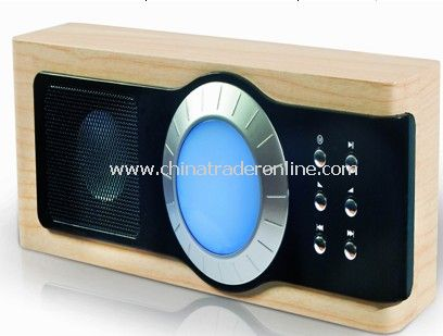 Wooden SD Card Speaker with FM radio