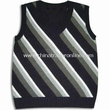 Childrens Sweater with Stripe, Made of 100% Cotton