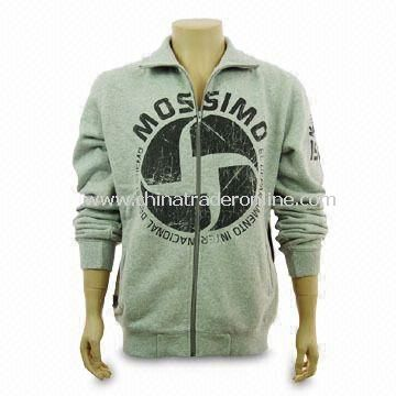 Sweatshirt, Made of 80% Combed Cotton and 20% Polyester, Customized Logos are Accepted