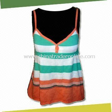 Womens Tank Top Sweater, Made of 100% Cotton