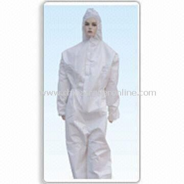 Coverall with Bound Seam Construction, Made of 3-ply Antibacterial and Breathable Film