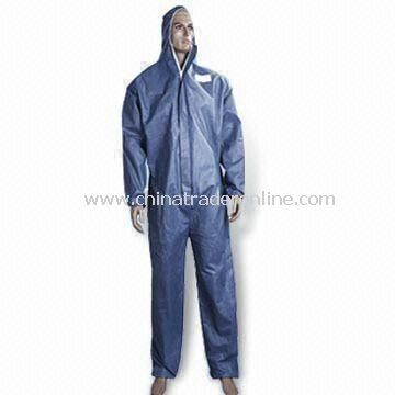 Disposable Nonwoven SMS Coverall with Hood, Available in Different Colors