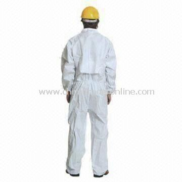 Disposable Nonwoven SPES Coverall with Knitted Cuffs and Pockets