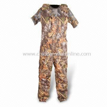 Waterproof Coverall with Polyester Taffeta Lining and Two Chest Pockets