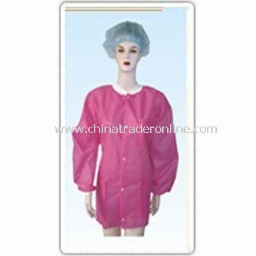 Womens Lab Coat, Made of Lightweight and High Breathability Polyprophylene