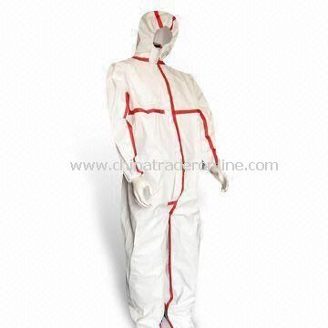 4/5/6 Coverall with Anti-static, Microporous Film and Tape Sealed, EN1149-1 Marks