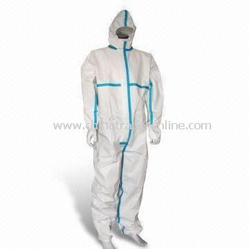 Anti-static Coverall, Compliant with EN1149-1Standard, Made of Microporous Film and Tape Sealed