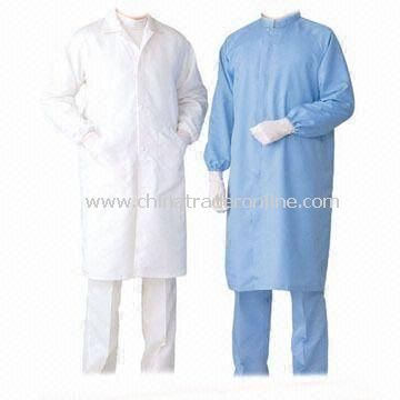 Anti-static Fabric, ESD Coverall, Made of 98% Polyester + 2% Conductive Fiber