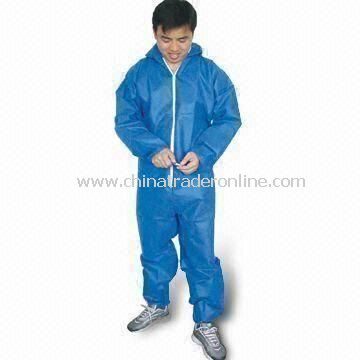 Blue Coverall, Different Colors and Sizes are Available, Made of Micro Breathable from China