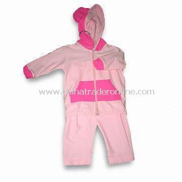 Childrens Coverall Swimwear, Made of PBT/Polyester, Contrast Piping on Armhole/Silver Print Logos