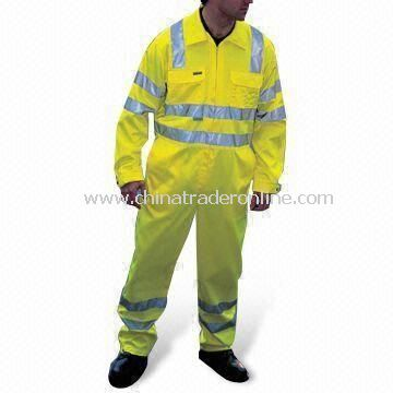 Coverall, Made of 80% Polyester, Available in Various Colors from China