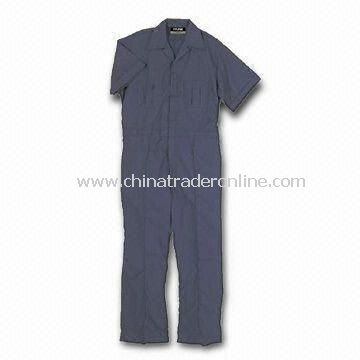 Coverall, Made of Cotton/Polyester Blend with Medium Weight Poplin, OEM/ODM Orders are Welcome