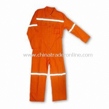 Coverall/Working Garment/Workwear, Comes in Various Colors, Made of 100% Cotton