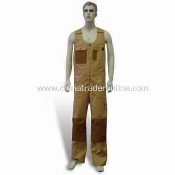 Coverall Working Vest, Made of 65% Polyester and 35% Cotton, Comes in Various Colors