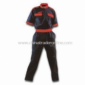 Coveralls, Made of 65% Cotton and 35% Polyester Lightweight Twill Materials
