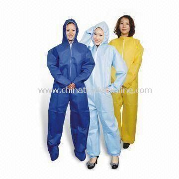 Coveralls, Made of PP, with PE Coating, Various Sizes are Available from China