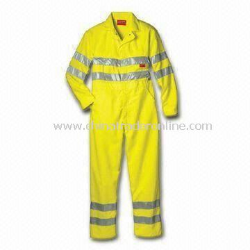 Fireproof Coverall with Banded Waist and 3M Reflective Tapes, OEM Orders are Available