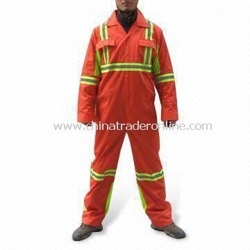 High Visibility Coverall with Colorfast Process and Front Pockets from China