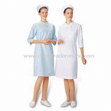 Medical Coveralls, Used as Medical and Factory Uniform, Made of Cotton and Polyester