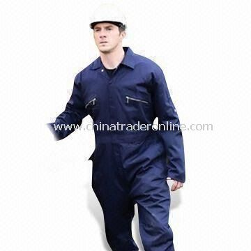 Mens Coveralls, Made of 65% Fabric and 35% Cotton Twill Polyester