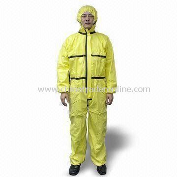 Nonwoven Hooded Coverall with Breathable Fabric and Waterproof Function