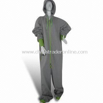One Piece Jumpsuit with 80% Cotton and 20% Polyester Fabric