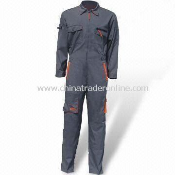 Power Coverall, Available in European Sizes, Made of 65% Polyester and 35% Cotton Fabric