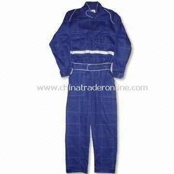 Racing Overall with Adjustable Belt on Waist and Elastic Cuffs from China