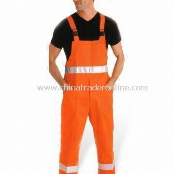 Reflective Overall with Adjustable Band and Reflective Band, Ideal for Workers to Protect the Body