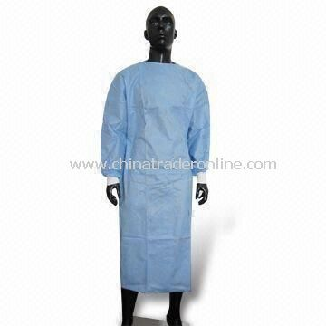 Surgical Gown with Knitted Cuff, Available in Various Sizes and Colors