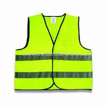 100% Polyester Safety Vest with Velcro, Available in Various Sizes and Colors