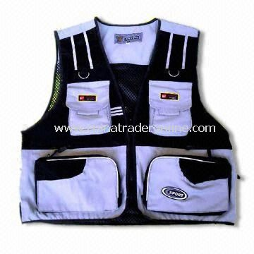 100% Polyester Safety Vest with Velcro, Available in Various Sizes/Colors
