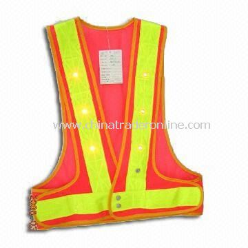 Fluorescent Yellow Safety Vest, Available in S to XXXL