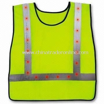 Knitted/Woven Fabric Reflective Safety Vest, Also Available in Yellow/Orange, EN 471 Certified