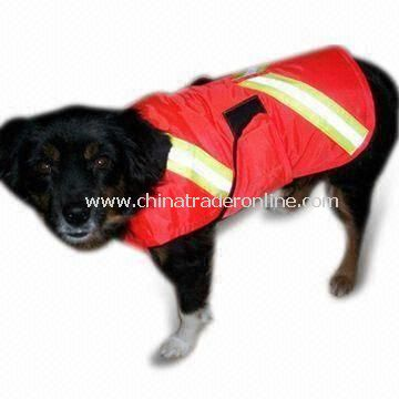 Reflective Safety Pet Vest with Velcro or Zipper Front Closures and High Visibility